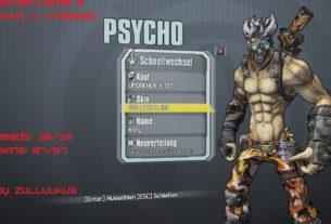 Borderlands 2 Psycho skin pack